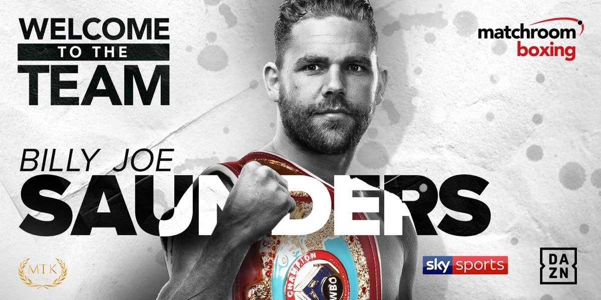 Billy Joe Saunders - Undefeated WBO Super-Middleweight World Champion Billy Joe Saunders has signed a multi-fight promotional deal with Eddie Hearn's Matchroom Boxing, with his next fight to be announced next week.