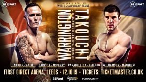 Sofiane Takoucht - JOSH WARRINGTON will make the third defence of his IBF world featherweight title against France's Sofiane Takoucht at First Direct Arena, Leeds on Saturday October 12, live on BT Sport.