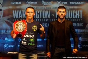 Sofiane Takoucht - JOSH WARRINGTON will be back home in Leeds when he defends his IBF world featherweight title against number four ranked Sofiane Takoucht at First Direct Arena on Saturday October 12, live on BT Sport.