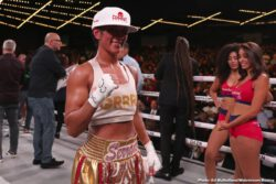Amanda Serrano, Devin Haney, Heather Hardy, Michael Hunter, Sergey Kuzmin, Zaur Abdullaev - Devin Haney produced a scintillating display in dismantling Zaur Abdullaev in four rounds to land become the interim WBC World Lightweight champion at the Hulu Theater at Madison Square Garden in New York, live on DAZN in the US and on Sky Sports in the UK.