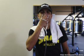 Batyr Akhmedov, Mario Barrios - Undefeated rising star Mario Barrios is deep into training camp for the biggest fight of his professional career as he prepares to battle fellow unbeaten Batyr Akhmedov for the WBA Super Lightweight title Saturday, September 28 as part of the FOX Sports PBC Pay-Per-View from STAPLES Center in Los Angeles.