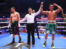 "Jesus Cuadro, Joseph Diaz - ""This was my first time fighting in Mexicali, and I want to thank everyone for the support,"" said Joseph Diaz Jr. ""This was a good test and a warmup for the next one. I hurt my left hand early in the fight by hitting Cuadro in the elbow. That's why I didn't want to take too many risks and make things worse. Either way, I still showed that I'm a fighter who can box, attack and defend. Now, I want Tevin Farmer. Let's get the show on the road. Whether in November or December, let's do it."""