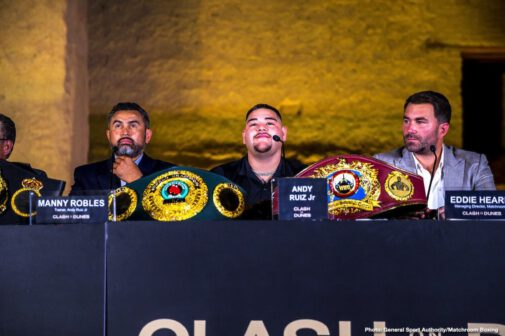 Anthony Joshua, Eddie Hearn - Fresh from the Saudi Arabia leg of the press tour, Andy Ruiz and Anthony Joshua come face to face in New York - The location of the epic first fight...