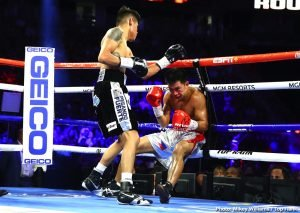 "Miguel Gonzalez - For the fourth time in seventh months, Mexico's Emanuel ""Vaquero"" Navarrete will defend his WBO junior featherweight world title. Boxing's most active world champion will make his fourth title defense of 2019 Saturday against countryman Francisco Horta at Auditorio GNP Seguros in Puebla, Mexico (ESPN+, 9 p.m. ET)."