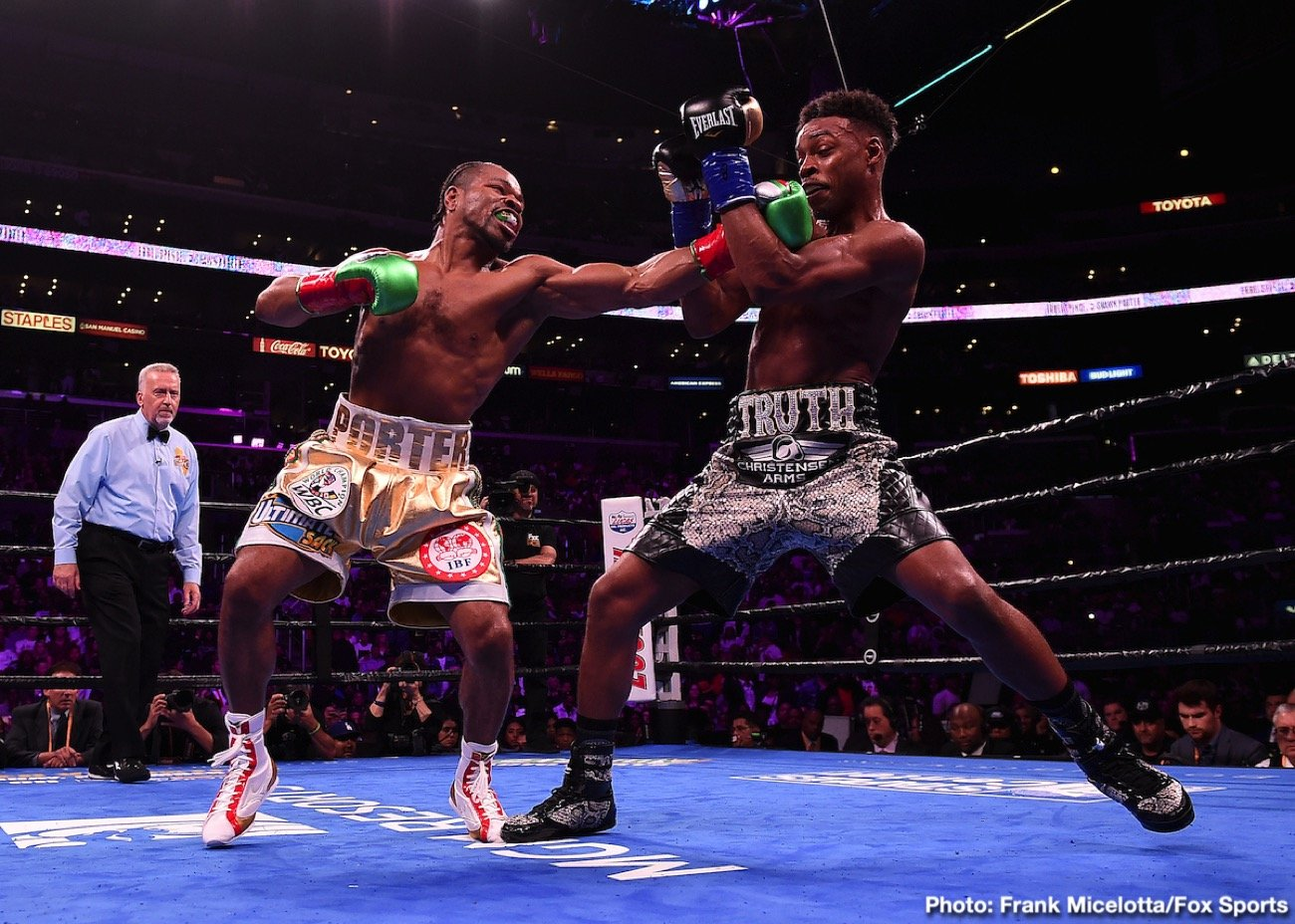 Errol Spence, Shawn Porter - Fight fans knew they were in for a good fight last night, as rival welterweight champions Errol Spence and Shawn Porter collided in a unification showdown. What they got was a great fight, perhaps The Fight of The Year. Spence added the WBC crown to his IBF title by way of a gruelling, often thrilling decision win, in doing so coming through the single hardest fight of his career.