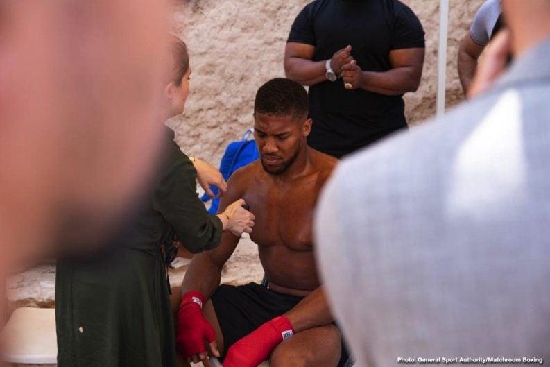 Anthony Joshua Eddie Hearn Boxing News British Boxing