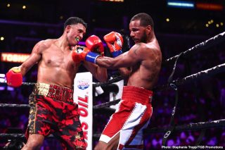 """Josesito Lopez - David  Benavidez (22-0, 19 KOs) regained the WBC Super Middleweight World Championship from two-time champion Anthony """"The Dog"""" Dirrell (33-2-1, 24 KOs) with a ninth-round TKO victory."""
