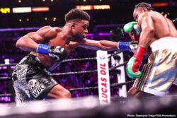 "Errol Spence, Shawn Porter - Errol ""The Truth"" Spence Jr. (26-0, 21 KOs) unified the IBF and WBC Welterweight World Titles Saturday night against two-time champion ""Showtime"" Shawn Porter (30-3-1,17 KOs) in an action packed main event of a FOX Sports PBC Pay-Per-View from STAPLES Center in Los Angeles."