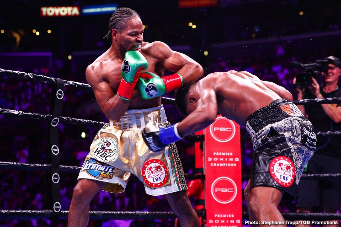 Errol Spence, Kenny Porter, Shawn Porter - Trainer Kenny Porter is angry about both the fouling by Errol Spence Jr. and the scores that were handed down by two of the judges in last Saturday's welterweight unification fight between Errol and WBC champion Shawn Porter at the Staples Center in Los Angeles, California.