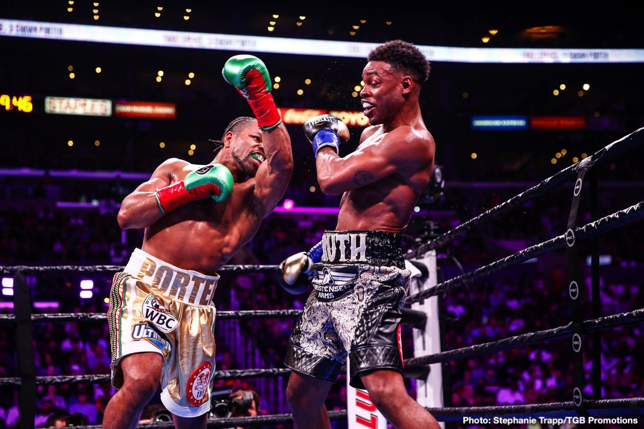 "Danny Garcia, Errol Spence Jr. -  Unified welterweight world champion Errol ""The Truth"" Spence Jr. will duel two-division world champion Danny ""Swift"" Garcia in the blockbuster main event of a FOX Sports PBC Pay-Per-View Saturday, December 5 with fans in attendance at AT&T Stadium in Arlington, Texas."