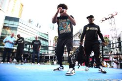 """Anthony Dirrell, David Benavidez, Errol Spence, Shawn Porter - Unbeaten IBF Welterweight Champion Errol """"The Truth"""" Spence Jr. and WBC Champion """"Showtime"""" Shawn Porter made their grand arrivals Tuesday as they near their title unification showdown that headlines a FOX Sports PBC Pay-Per-View this Saturday, September 28 from STAPLES Center in Los Angeles."""