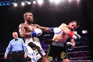 Peter Quillin - Super middleweight Alfredo Angulo (26-7, 21 KOs) wore down and defeated former WBO 160-lb champion Peter 'Kid Chocolate' Quillin (34-2-1, 23 KOs) by a 10 round split decision on Saturday night at the Rabobank Arena in Bakersfield, California. The scores were 97-93, 96-94 for Angulo, and 96-94 for Quillin.