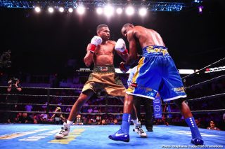 Jamal James, Thomas Dulorme - FOX Sports and FOX Deportes welcome the highly anticipated return of Premier Boxing Champions on Saturday, Aug. 8, with four hours of live coverage across the FOX Sports family of networks from Microsoft Theater in Los Angeles.