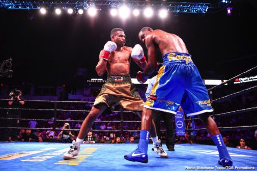 Alfredo Angulo, Chris Colbert, Peter Quillin, Thomas Dulorme - In the main event of FS1 PBC Fight Night and on FOX Deportes Saturday night from Rabobank Arena in Bakersfield California Alfredo Angulo (34-2-1, 23 KOs) won a hard-fought but close split decision over Peter Quillin (26-7, 21 KOs).Judges scored the bout 96-94, 97-93 for Angulo and 96-94 for Quillin.