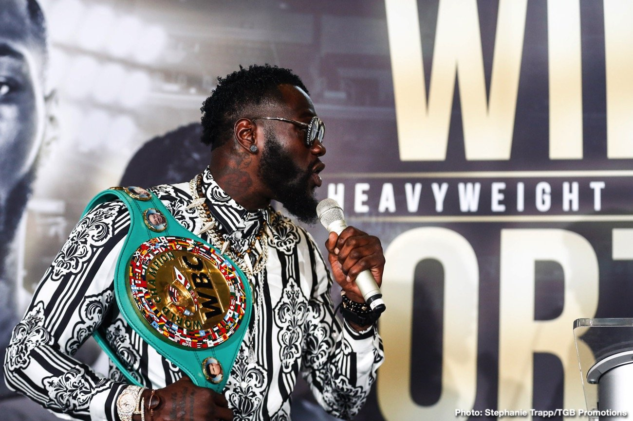 """Andy Ruiz - WBC heavyweight champ Deontay Wilder has it all figured out. He thinks. Speaking again with Sky Sports, the unbeaten power-puncher repeated his desire to become undisputed heavyweight ruler: """"one champion, one face, one name,"""" as he puts it. And to get there, Wilder says, he will first fight Luis Ortiz in a rematch, then Tyson Fury in another rematch, and then fight a unification with the Andy Ruiz-Anthony Joshua winner (who Wilder feels will be Ruiz; thus making the unification fight a relatively easy one to make, on paper at least)."""