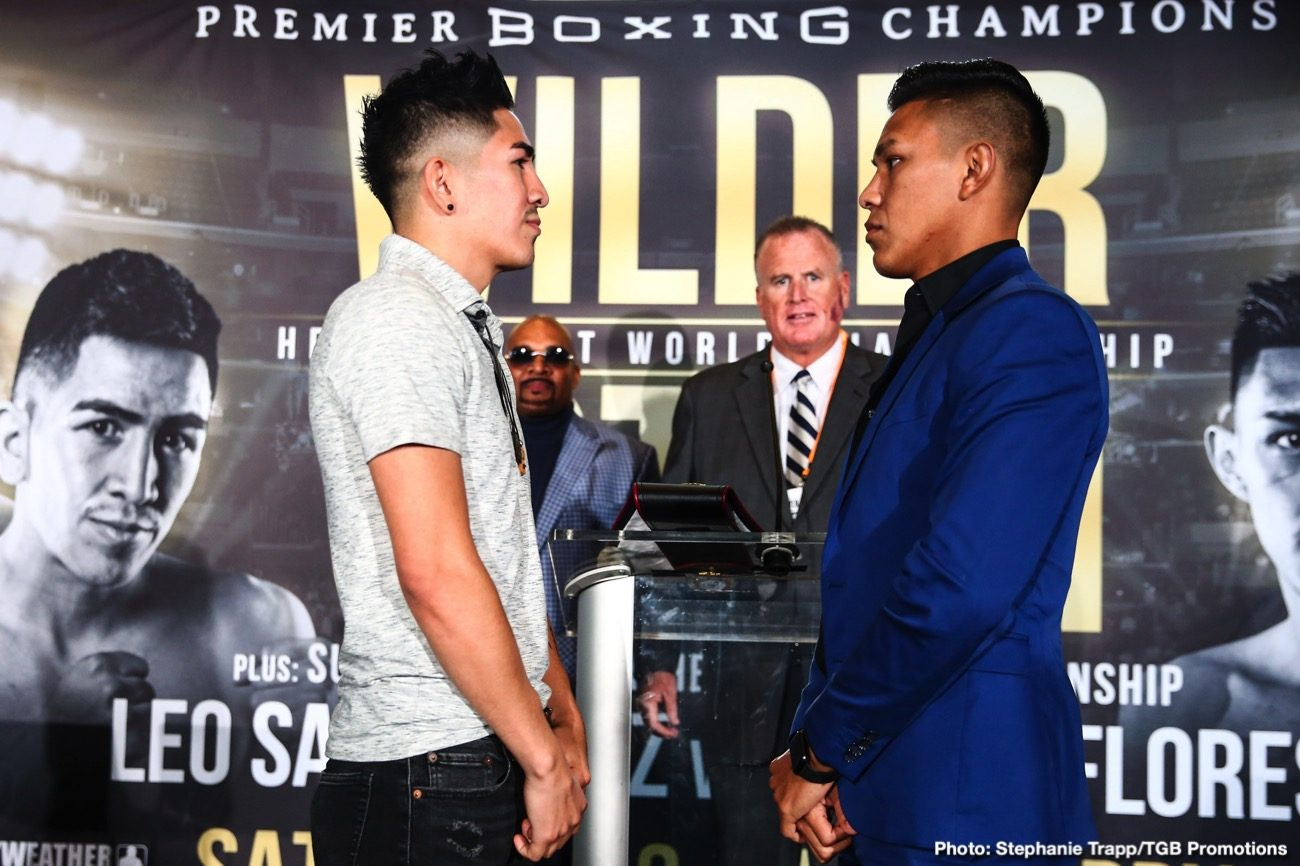 Brandon Figueroa Leo Santa Cruz Miguel Flores Boxing Interviews Boxing News