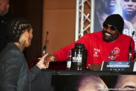 Dereck Chisora, Joseph Parker, Josh Taylor, Lee Selby, Regis Prograis, Ricky Burns - Derek Chisora - I'm bringing war, I'm not playing. This is my show. Boxing is thriving because of the Heavyweights. Mike Tyson said it when AJ knocked out Klitschko, the money is back in the division. I want more money if I'm not headlining the show!