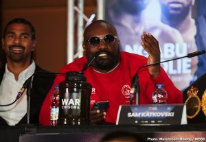 Dereck Chisora, Joseph Parker, Josh Taylor, Regis Prograis - Joseph Parker isn't phased at all with the intimidation tactics that Dereck Chisora is trying on him ahead of their fight next month on October 26 at the O2 Arena in London, England.