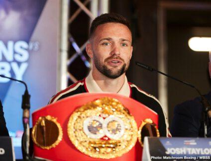 Derek Chisora, Joseph Parker, Josh Taylor, Lee Selby, Regis Prograis, Ricky Burns - Boxing News