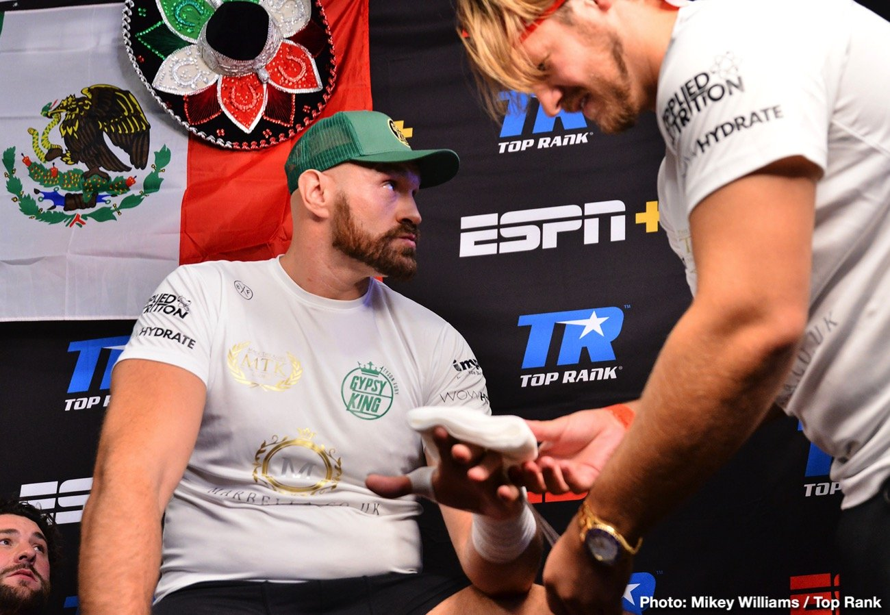 Tyson Fury - In what has come as quite a surprise, heavyweight star Tyson Fury has split with trainer Ben Davison. Both men have confirmed the split, an amicable one, and Fury now has a new coach, the third of his pro career. Initially trained by his uncle Peter Fury. Tyson parted from Peter and then, when suffering from depression and having gained a ton of weight, Davison came on board and helped Fury battle his demons and get back into top shape.