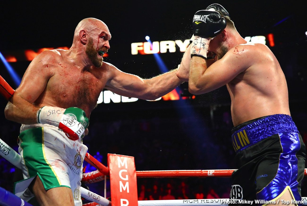 Otto Wallin Tyson Fury Boxing News British Boxing
