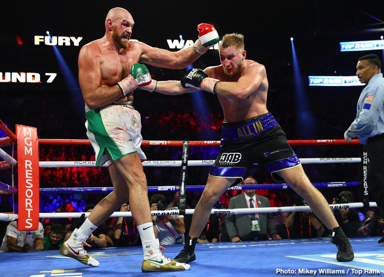 Otto Wallin Tyson Fury Boxing News Boxing Results