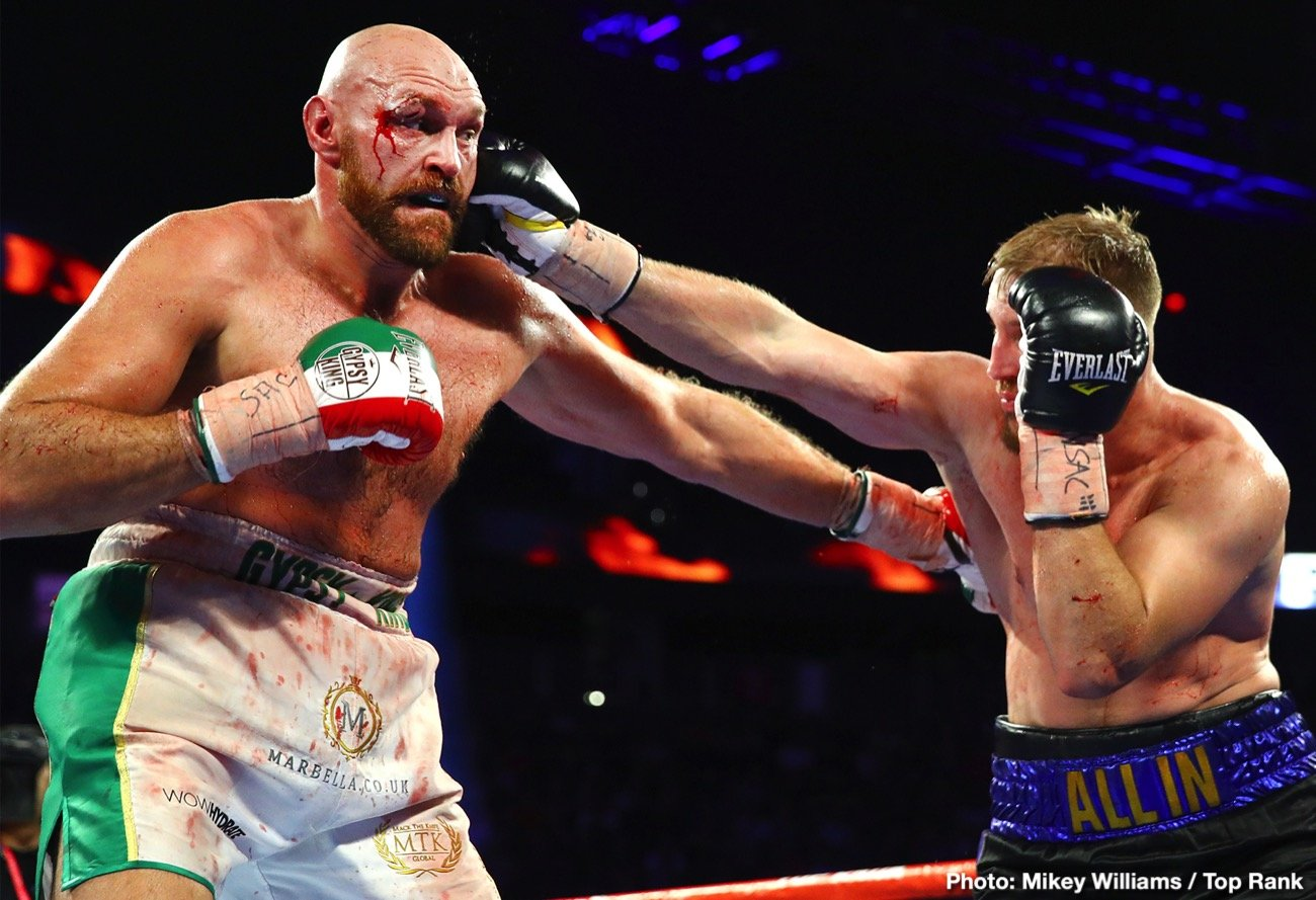Tyson Fury - If a dedicated boxing fan missed last Saturday's Lineal Heavyweight Title Contest between defending champ Tyson Fury and unheralded Otto Wallin because he was working overtime to pay for his three boxing streaming subscriptions, and only saw the score cards the next day, he would conclude that Tyson Fury got on his bicycle and did his best Floyd Mayweather impression for 12 rounds much like he's done in the past.