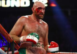 Tyson Fury overcame a terrible cut and a stiff challenge from Otto Wallin to successfully defend his lineal heavyweight title via unanimous decision (116-112, 117-111, 118-110) in front of 8,249 fans at T-Mobile Arena Saturday evening.