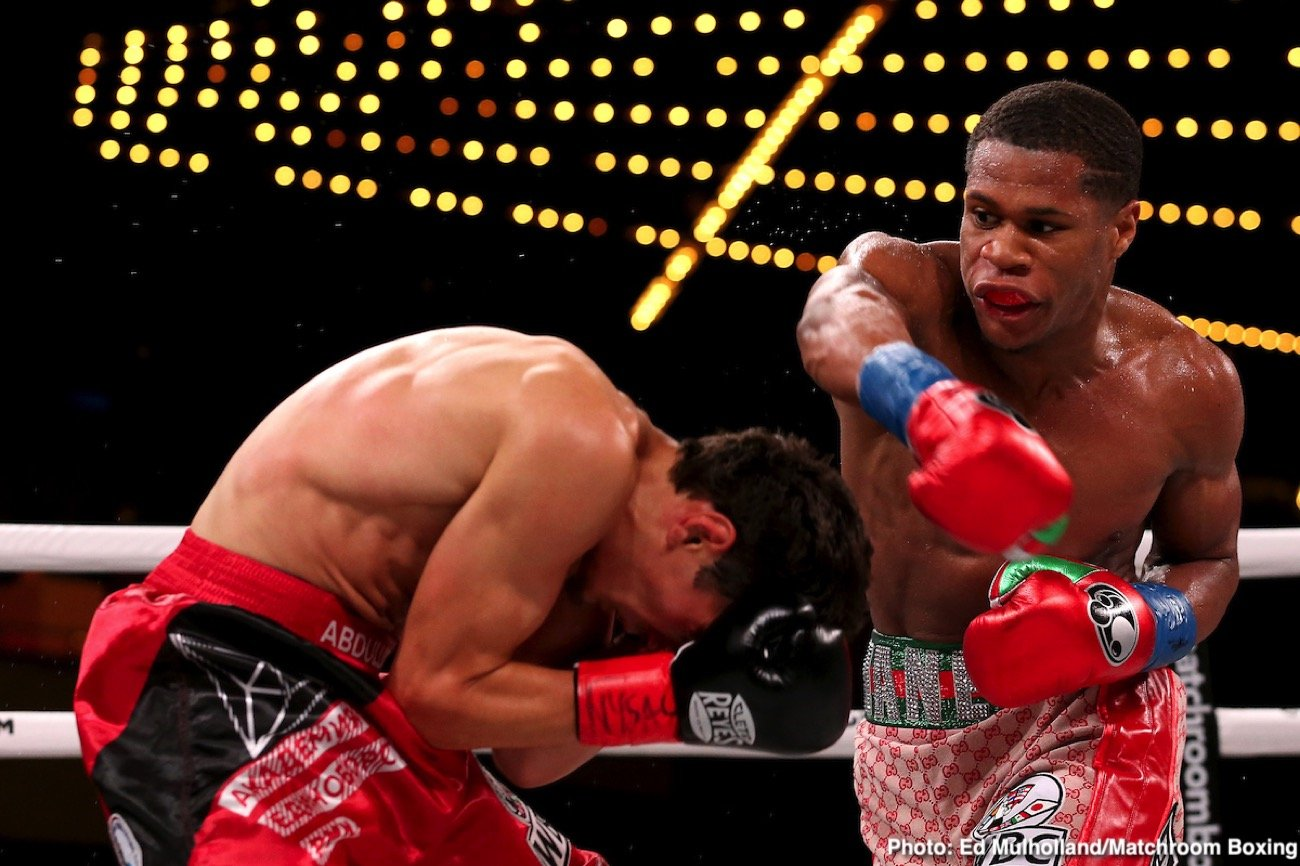 Michael Hunter - Devin Haney produced a scintillating display in dismantling Zaur Abdullaev in four rounds to land become the interim WBC World Lightweight champion at the Hulu Theater at Madison Square Garden in New York, live on DAZN in the US and on Sky Sports in the UK.