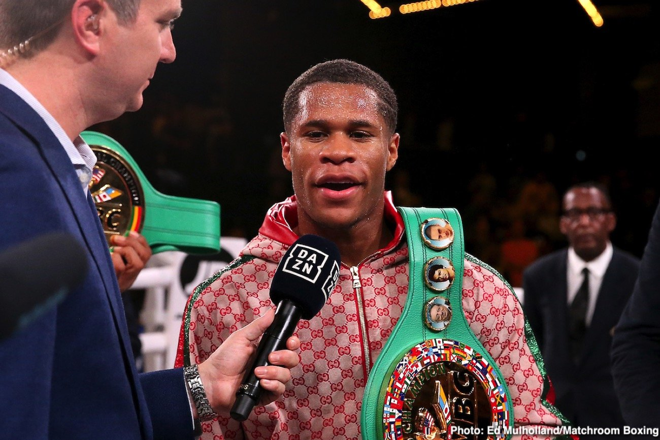 Devin Haney, Michael Hunter, Sergey Kuzmin, Vasiliy Lomachenko, Zaur Abdullaev - Devin Haney let WBA/WBC/WBO lightweight champion Vasiliy Lomachenko that he's coming for him next after beating Zaur Abdullaev (11-1, 7 KOs) by a fourth round knockout on Friday night to earn the WBC mandatory position on DAZN at Madison Square Garden in New York. Haney (23-0, 15 KOs) is now both the mandatory AND the WBC interim lightweight champion.