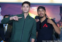 Avery Sparrow, Jaime Munguia, Patrick Allotey, Ryan Garcia - Jaime Munguia (33-0, 26 KOs) of Tijuana, Mexico and African warrior Patrick Allotey (40-3, 30 KOs) hosted their final press conference today at Dignity Health Sports Park ahead of their 12-round fight for the WBO Junior Middleweight World Title. The event will take place on Saturday, Sept. 14 at the aforementioned Dignity Health Sports Park in Carson, Calif. and will be streamed live on DAZN.