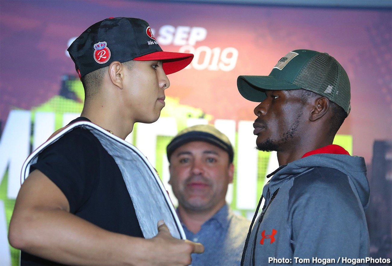 Jaime Munguia - Jaime Munguia (33-0, 26 KOs) of Tijuana, Mexico and African warrior Patrick Allotey (40-3, 30 KOs) hosted their final press conference today at Dignity Health Sports Park ahead of their 12-round fight for the WBO Junior Middleweight World Title. The event will take place on Saturday, Sept. 14 at the aforementioned Dignity Health Sports Park in Carson, Calif. and will be streamed live on DAZN.