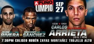 """Ricardo Núñez - Everything is ready for the undefeated Carlos """"The Chosen One"""" Arrieta to climb into the ring for his first 10-round fight against veteran Panamanian Ricardo """"El Matemático"""" Núñez in another edition of the series """"A Puño Limpio"""", which will take place this Friday, September 27 at the Rubén Zayas Montañez Coliseum in Trujillo Alto in a presentation of PR Best Boxing Promotions (PRBBP) in association with Spartan Boxing which will be broadcast live on www.facebook.com/PRBestBoxing."""