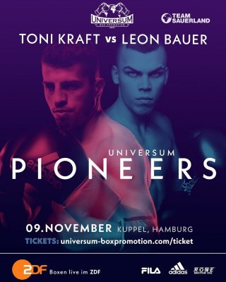Leon Bauer, Patrick Wojcicki - Rising Team Sauerland stars Leon Bauer (16-0-1, 9 KOs) and Patrick Wojcicki (13-0-1, 4 KOs) return to action on November 9 as both men look to further their World title ambitions with a victory at the Kuppel in Hamburg, Germany.