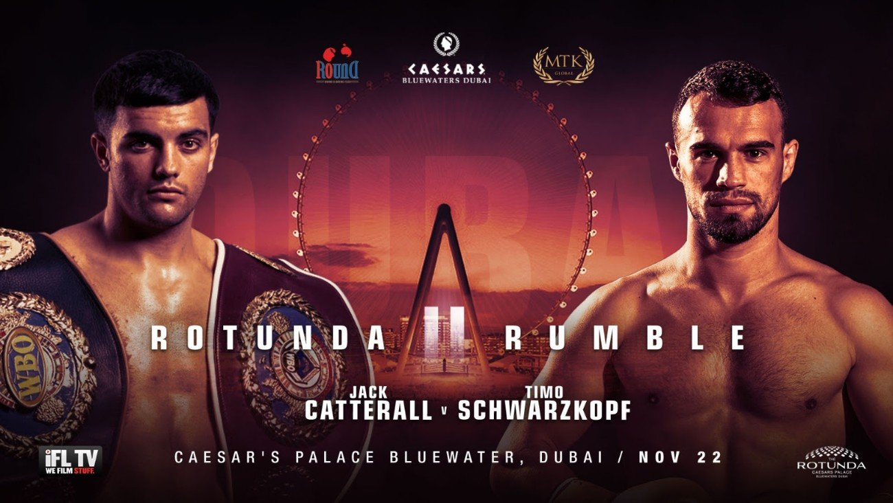 Jack Catterall, Timo Schwarzkopf - WBO world No. 1 Jack Catterall will take on former EBU European Union super-lightweight champion Timo Schwarzkopf in Dubai on November 22.
