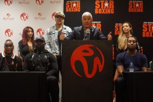 "Craig Lewis - Fighters, media and fans alike gathered for the official press-conference ahead of Star Boxing's ""Catskills Clash II"" at Resorts World Catskills, in Monticello, NY, taking place Saturday night, September 14. The card features #8 world rated heavyweight title contender, CARLOS TAKAM (36-5-1 28KO's) against the granite chin and will of Detroit's, CRAIG LEWIS (14-3-1 7KO's)."