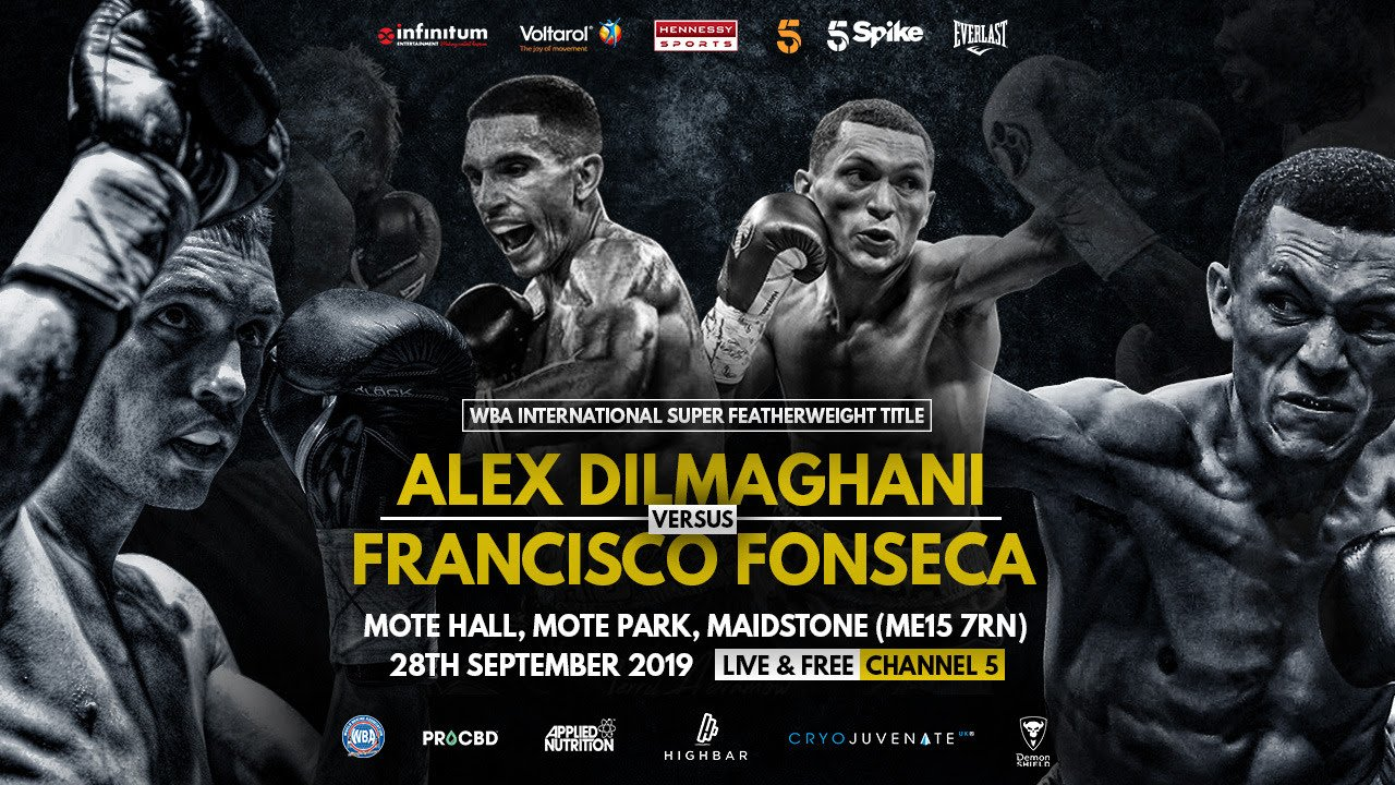 Francisco Fonseca - North-west fight fans get a second chance to savour the smooth southpaw skills of soaring super-featherweight Alex Dilmaghani when the fast rising star tops the Premier Suite, University of Bolton Stadium, Bolton on Saturday 28th September, exclusively live on Channel 5 from 9pm.