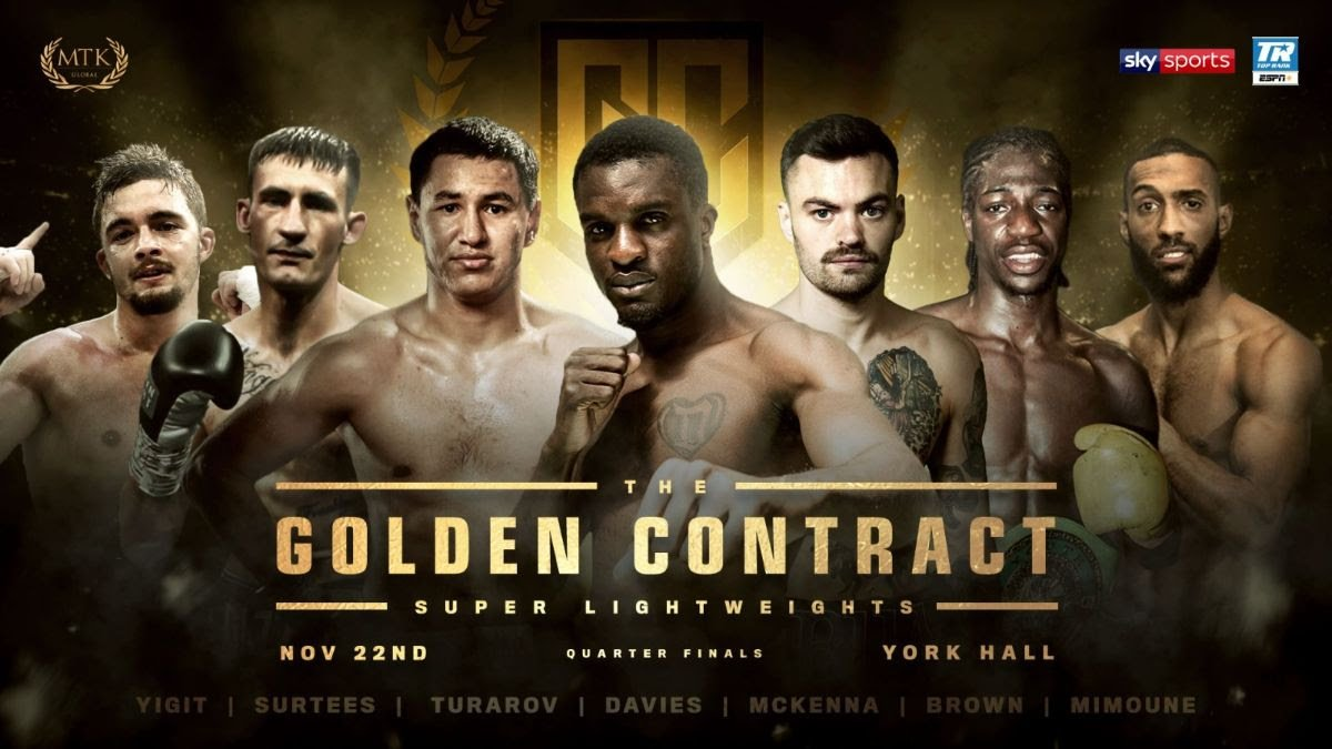 Akeem Ennis-Brown - The quarter-finals of the super-lightweight #GoldenContract tournament will take place at London's York Hall on November 22.