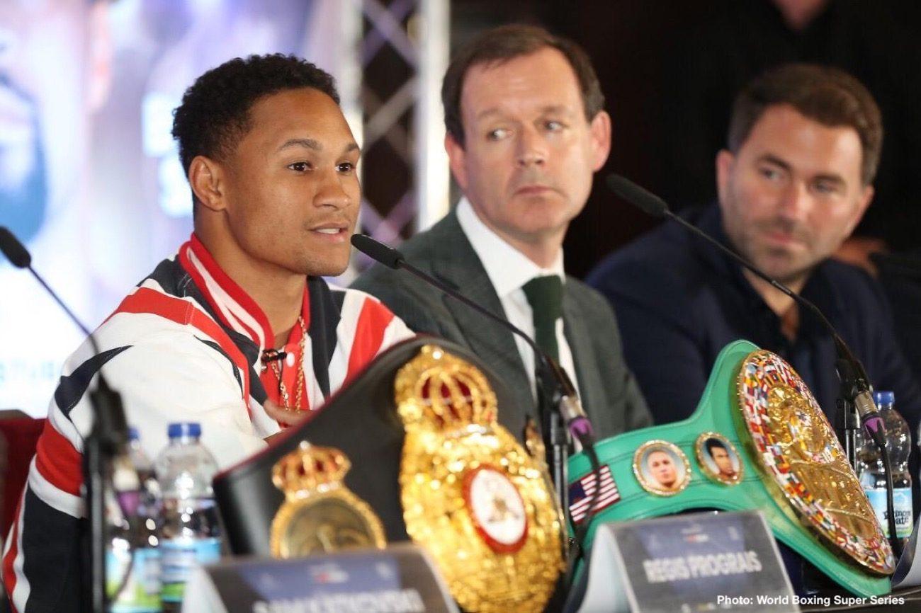 Dereck Chisora Eddie Hearn Joseph Parker Josh Taylor Matchroom Boxing Regis Prograis Boxing News