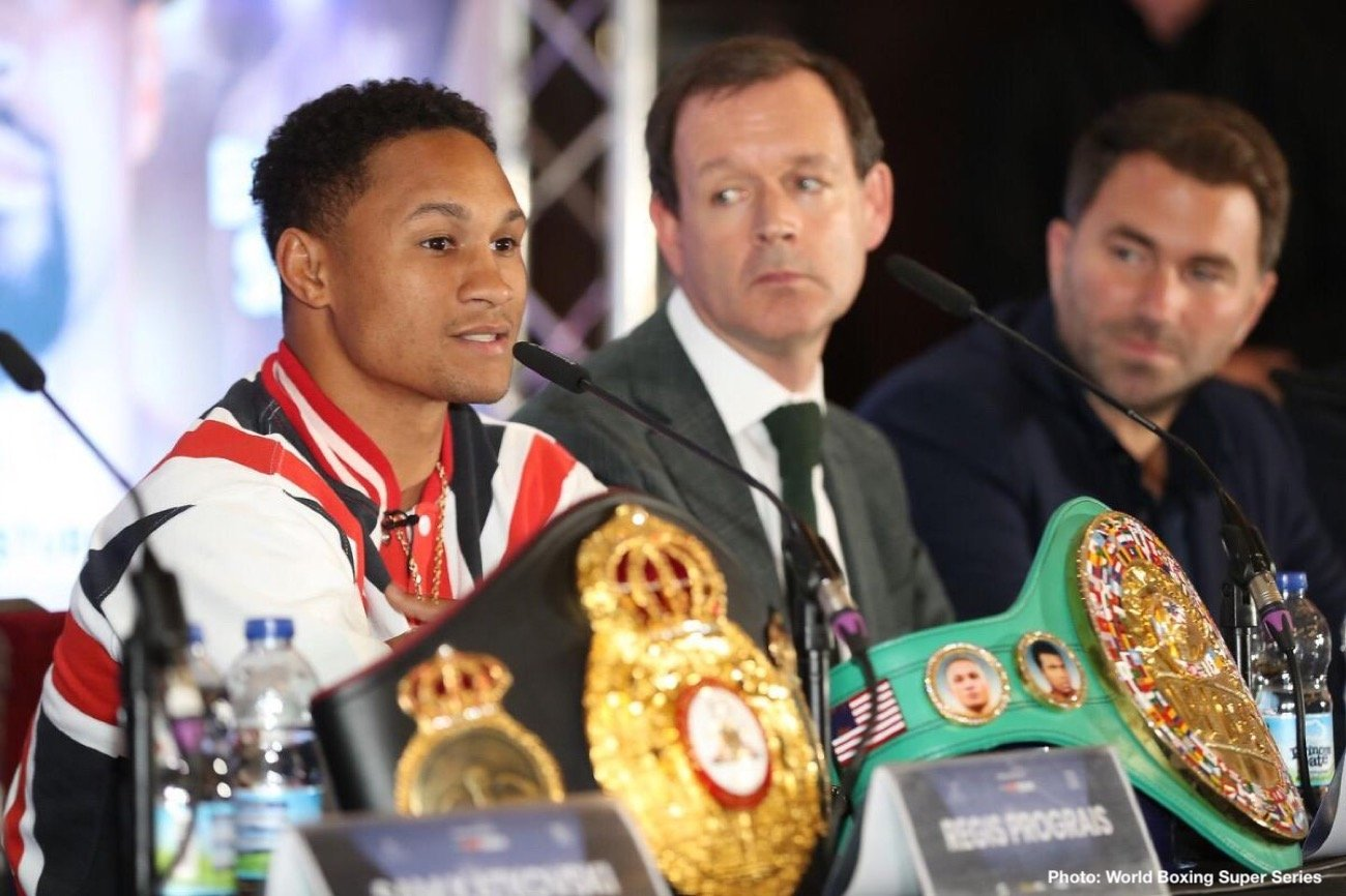 Josh Taylor - Regis Prograis is unhappy with the way heavyweight fringe contender Dereck Chisora disrespected him and Josh Taylor during last Monday's press conference. Chisora (31-9, 22 KOs) felt that he and his opponent former WBO heavyweight champion Joseph Parker (26-2, 20 KOs) should be the headliner on next month's Sky Box Office card on October 26 at the O2 Arena in London, England.
