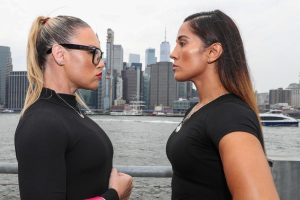 """Heather Hardy -  New York City's most popular female fighters, Heather """"The Heat"""" Hardy and Amanda """"The Real Deal"""" Serrano, both Kings County residents, clash this Friday at Hulu Theater at Madison Square Garden with the winner to be crowned """"Queen of Brooklyn"""". (Photo Credit: Ed Mulholland/Matchroom Boxing)"""
