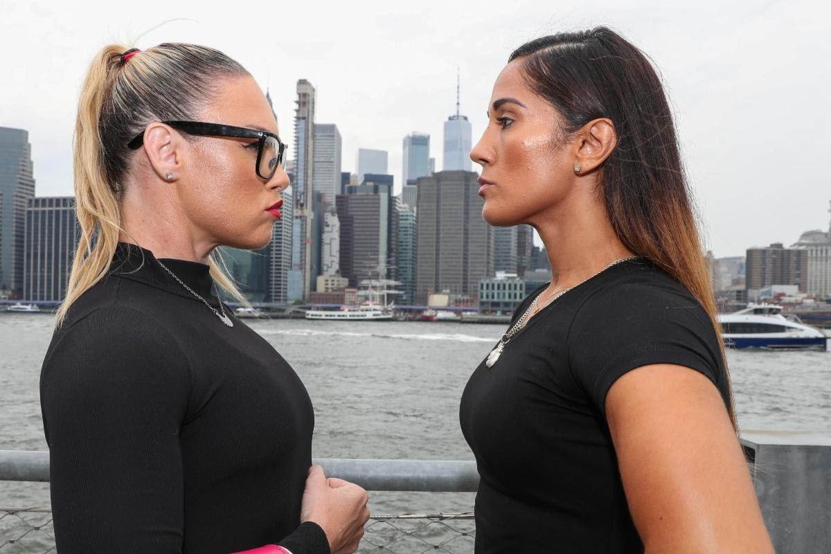 "Amanda Serrano -  New York City's most popular female fighters, Heather ""The Heat"" Hardy and Amanda ""The Real Deal"" Serrano, both Kings County residents, clash this Friday at Hulu Theater at Madison Square Garden with the winner to be crowned ""Queen of Brooklyn"". (Photo Credit: Ed Mulholland/Matchroom Boxing)"