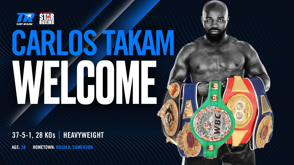 Carlos Takam - Last seen in a big fight in July of 2018, when he came unstuck in quite spectacular fashion in a fight he was winning with Dereck Chisora, warrior Carlos Takam, 37-5-1(28) will try and put his third victory in a row in his win column on February 28th. Takam, now aged 39 but still hungry for another crack at the world title, will face Brazilian boxer/MMA fighter Fabio Maldonado on promoter Joe DeGuardia's show in Huntington, New York.