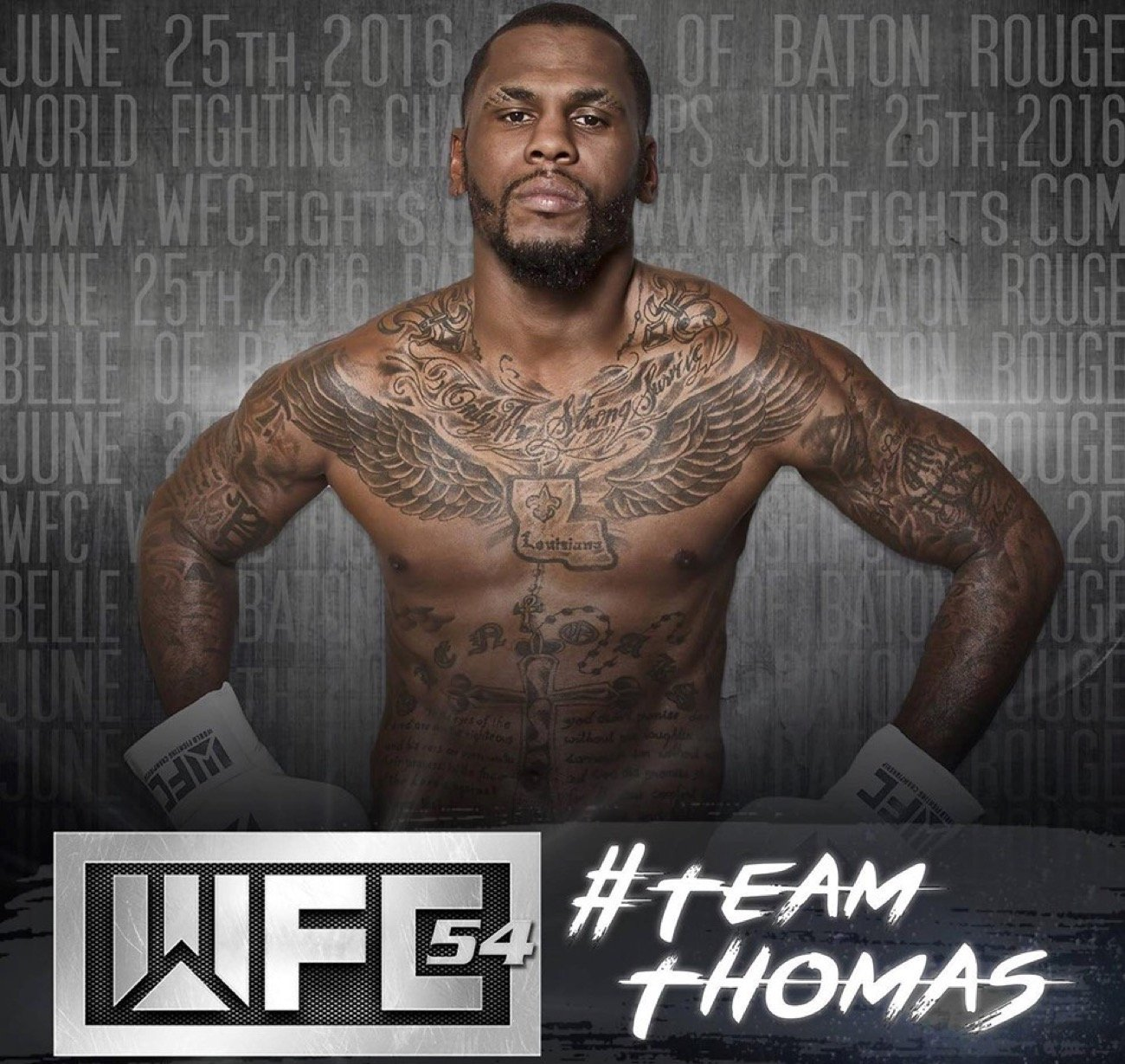 -  A long-time member of the World Fighting Championships family lost his life over Labor Day weekend.  Justin Thomas, who fought 16 of his 21 fights at the Belle of Baton Rouge Casino with WFC, was shot leaving a bar in his hometown.