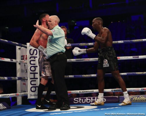 David Price, Derek Chisora, Josh Taylor, Lee Selby, Regis Prograis, Ricky Burns - IBF 140-lb champion Josh Taylor (16-0, 12 KOs) went to war with WBA light welterweight champion Regis Prograis (24-1, 20 KOs) in beating him by a 12 round majority decision on Saturday night to win the World Boxing Super Series tournament at the O2 Arena in London, UK.