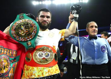 Artur Beterbiev, Kudratillo Abdukakhorov, Luis Collazo, Oleksandr Gvozdyk - It was a savage light heavyweight battle that lived up to the Philadelphia billing. Artur Beterbiev, in a back-a-forth affair, knocked out Oleksandr Gvozdyk in the 10th round to unify the WBC/IBF light heavyweight titles Saturday evening at the Liacouras Center.