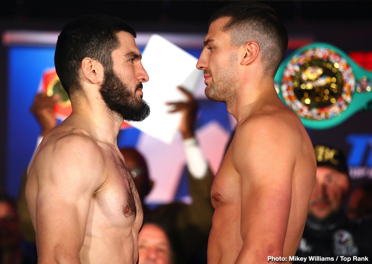 Top Rank Boxing - This Friday night live on ESPN, Artur Beterbiev and Oleksandr Gvozdyk take part in an important unification bout at the light heavyweight division. Russia versus Ukraine is a natural rivalry in amateur boxing and most recently growing in the pros, and unfortunately outside of the ring as well. Both fighters are unbeaten and considered to be among the creme de la creme at 175. American hardcores can only hope this rivalry grows. On that note we might as well throw in Uzbekistan with a bunch of talent coming over to the states.