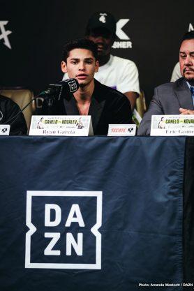 "Blair Cobbs DAZN Romero Duno Ryan Garcia Saul ""Canelo"" Alvarez Sergey Kovalev"
