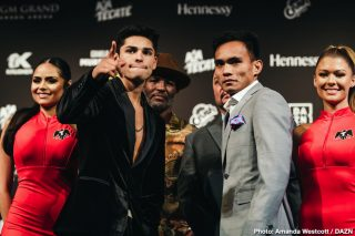 "Blair Cobbs, DAZN, Romero Duno, Ryan Garcia, Saul ""Canelo"" Alvarez, Sergey Kovalev - The undercard of the Canelo vs. Kovalev card hosted a press conference featuring Ryan Garcia (18-0, 15 KOs), Romero Duno (21-1, 16 KOs), Seniesa Estrada (17-0, 7 KOs), Marlen Esparza (7-0, 1 KO), Blair Cobbs (12-0-1, 8 KOs), and Carlos Ortiz (11-4, 11 KOs). The event will take place Saturday Nov. 2, 2019 at The MGM Grand Garden Arena in Las Vegas and will be streamed live exclusively on DAZN."