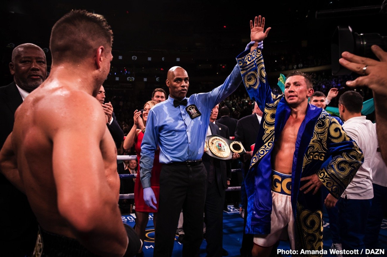 Sergiy Derevyanchenko - Gennady Golovkin recaptured his IBF title last Saturday beating Sergiy Derevyanchenko by a unanimous decision in a thrilling middleweight title contest at Madison Square Garden in New York.